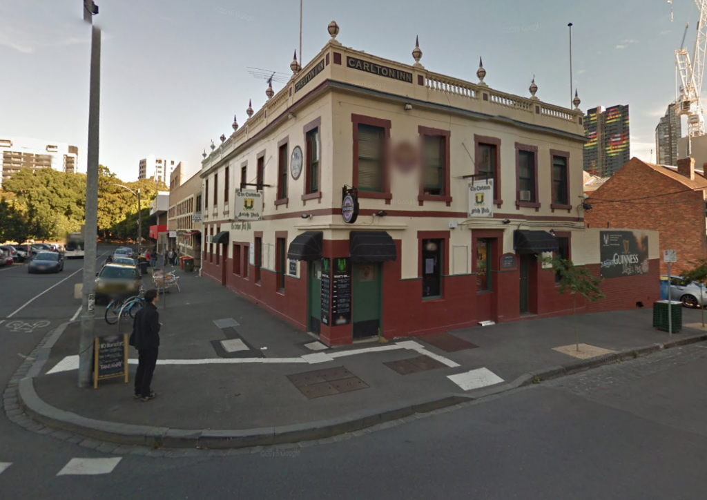 The Corkman Hotel prior to demolition (Source: Google street view)